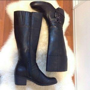 LIFE STRIDE Wrangler Black Moto Boots